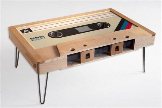 Cassette Table on Apartment Therapy