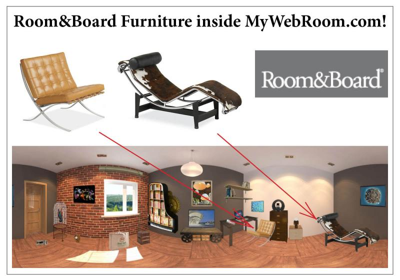 Room&Board Furniture inside MyWebRoom.com